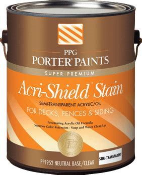 exterior stains  ppg porter paints