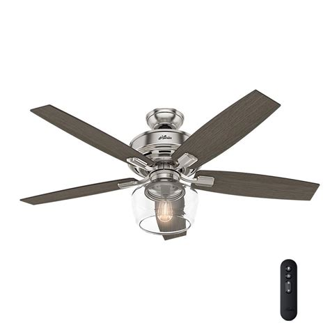 globe with fan 52 in led indoor brushed nickel ceiling
