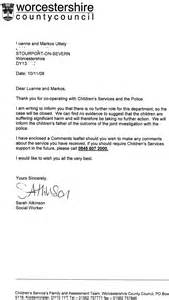 letter from social services we are not missing