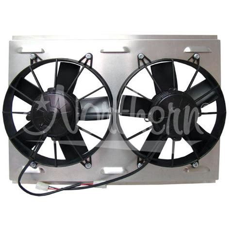dual electric fans with shroud electric fans shroud kits northern z41038 dual hi