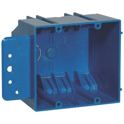 home electric box carlon 2 32 cu in new work electrical box with flange b232br the home depot