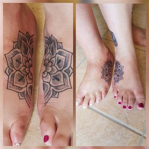 couple foot tattoos 28 foot tattoos designs matching tattoos for