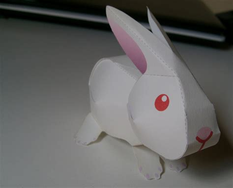 Paper Craft Rabbit - rabbit papercraft by denissensei on deviantart