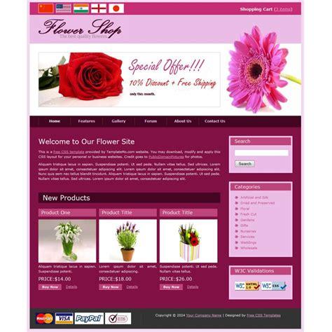 website templates for gift shop flower shop2 template