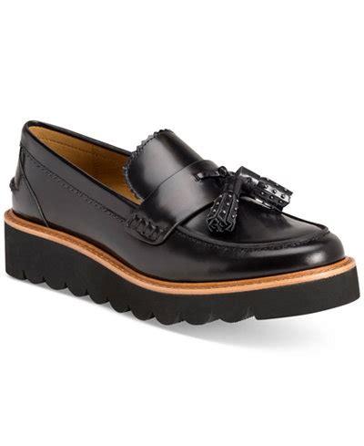 coach oxford shoes coach irvine flatform oxford flats flats shoes macy s