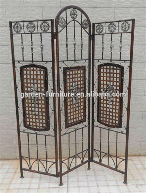 wrought iron decorative metal folding screen room divider