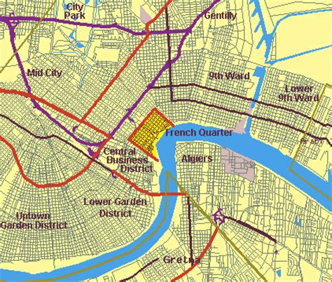 printable maps new orleans new orleans map free printable maps