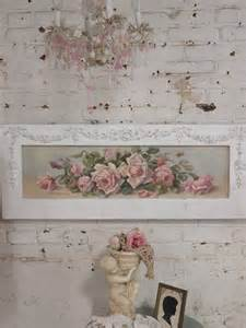 painted cottage chic shabby romantic rose canvas print hd60