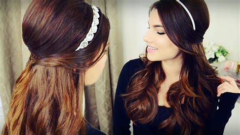 Wedding Hairstyles Half Up Half With Headband by The Cutest Hairstyles With Headbands Hair World Magazine