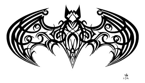 tattoo batman tribal tribal batman by mercurianangel on deviantart