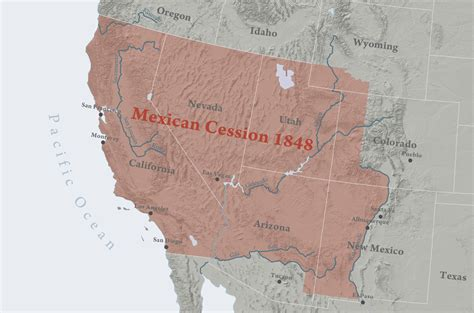 american lands cession map mexican cession