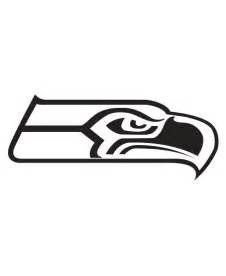 Seattle Seahawks Logo Black And White Sketch Coloring Page sketch template