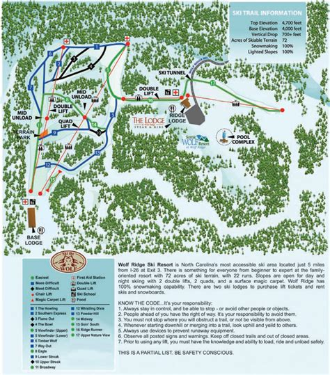 map of ski resorts in carolina wolf ridge ski slopes trail map skicentral