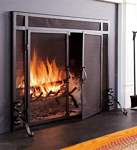 Adjustable Fireplace Doors by Plow Hearth Large Flatguard Fireplace Screen With Doors
