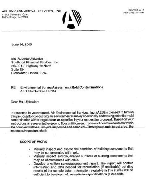 request for mold inspection letter   Katy's Exposure