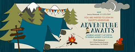 Adventure Time Birthday Card Template by Outdoor Free Invitations