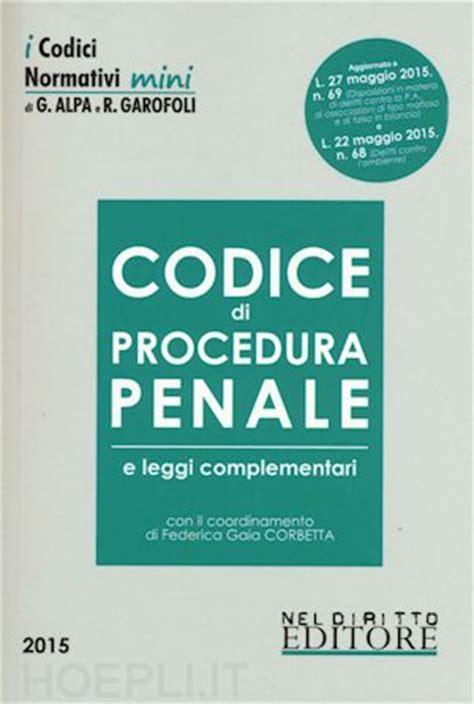 test procedura penale codice di procedura penale corbetta f g curatore