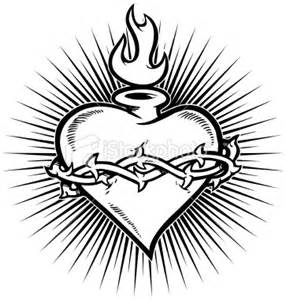 Sacred Heart Drawing Drawings Download Sketch Coloring Page sketch template