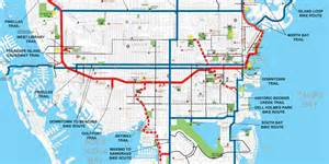 bike map st petersburg florida trail rail