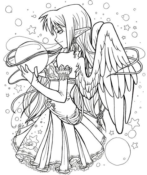 anime elf coloring pages anime coloring pages various anime colotring pages