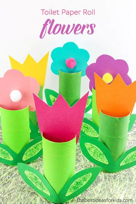 What Crafts Can You Make With Toilet Paper Rolls - best 25 flower crafts ideas on