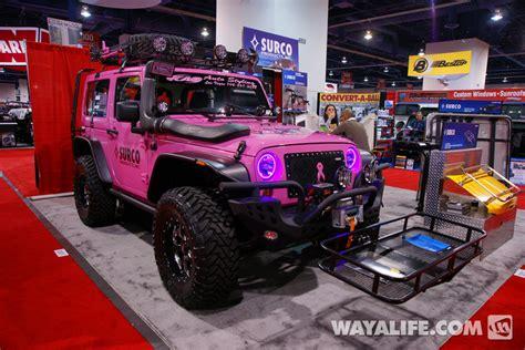 2012 Sema Surco Pink 2 Door Jeep Jk Wrangler