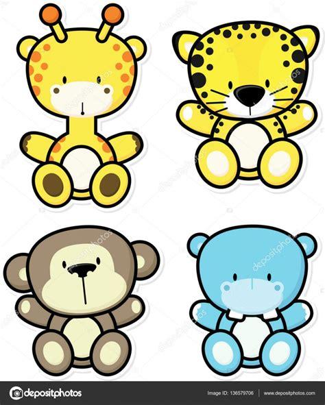 imagenes vectores de animales animales de la selva del beb 233 vector de stock 169 hayaship