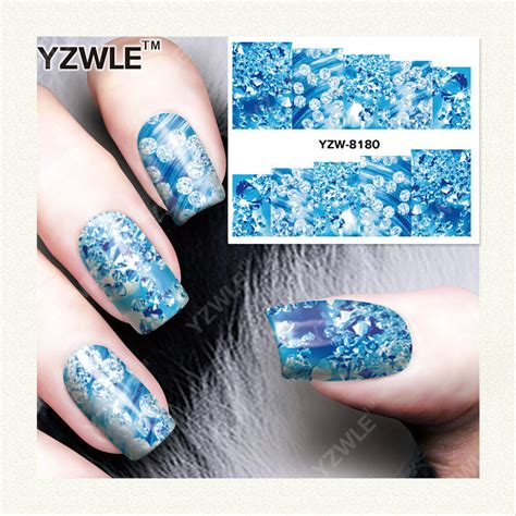Stiker Kuku Water Transfer Nail Sticker 7 yzwle 1 sheet diy designer water transfer nails sticker nail water decals nail stickers