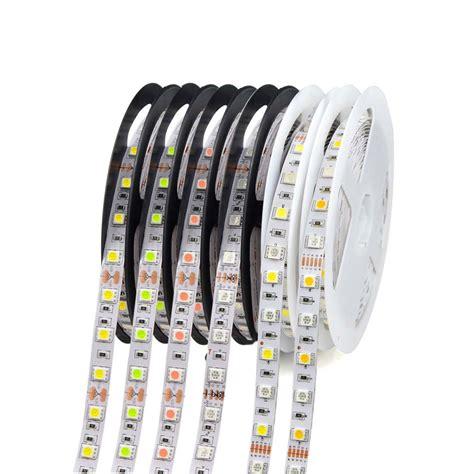 Led 1 Roll 1 roll 5m waterproof 12v led light 5050 rgb rgbw rgbww pink blue green diode