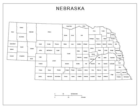 nebraska county map nebraska labeled map