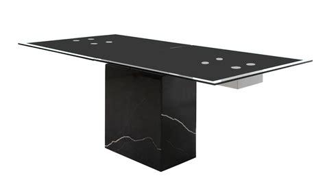 glas gestell esstisch sinja ausziehtisch glas gestell marmor schwarz