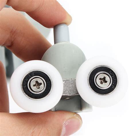 8pcs Double Sliding Shower Door Rollers Runners Glass Shower Door Roller Replacement