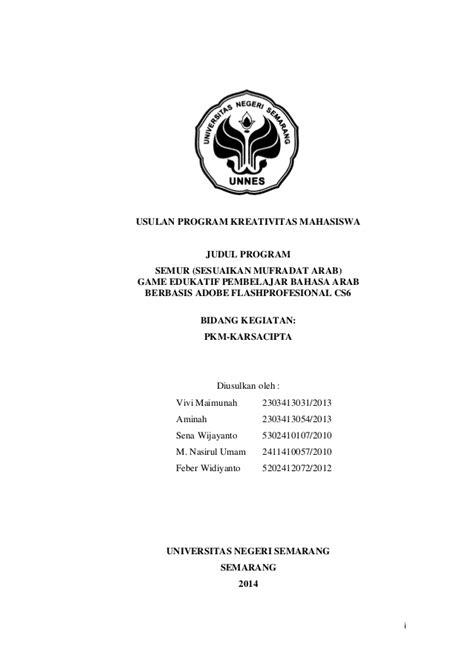 format proposal dikti contoh pkm kc lolos dikti 2014