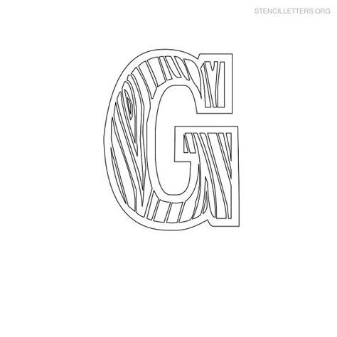 stencil letters g printable free g stencils stencil