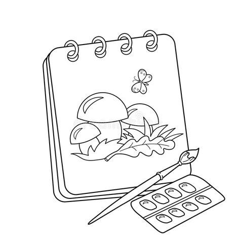 coloring book album artwork coloring page outline of album or sketchbook with
