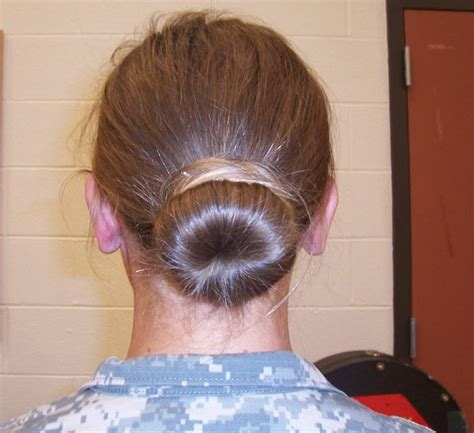 acceptable army hair cuts military bun for long thick hair life style by