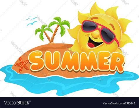 summer themes summer theme summer theme royalty free vector image