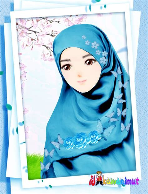 foto anime kartun berhijab gambar kartun wanita muslimah cantik