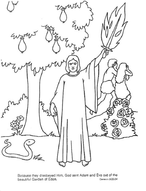 coloring pages of the garden of eden garden of eden coloring page coloring home