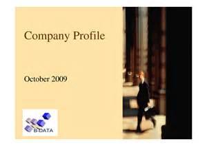 company profile sle format pdf