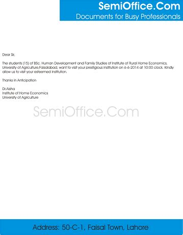 Excuse Letter For Not Joining The Field Trip Sle Field Trip Letter To Company Docoments Ojazlink