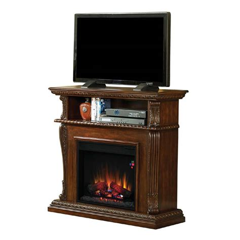 Tv Stands With Electric Fireplace Classic Infrared Corinth 47 Inch Tv Stand With Electric Fireplace Walnut 23ide1447 W502