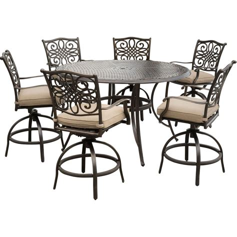 hanover traditions 7 aluminum outdoor high dining