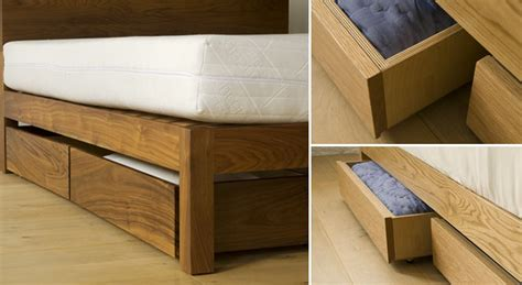 bed with drawers under under bed drawers storage natural bed company