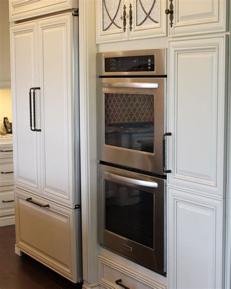 Kitchen Cabinet For Wall Oven by Wall Oven And 42 Quot Counter Depth Refrigerator That