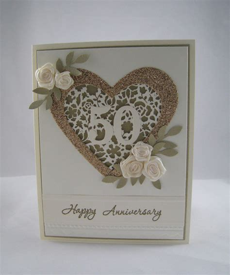 Handmade 50th Anniversary Cards - golden anniversary card stinu