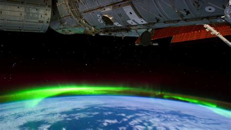 northern lights from space nasa shares stunning video of northern lights cnn