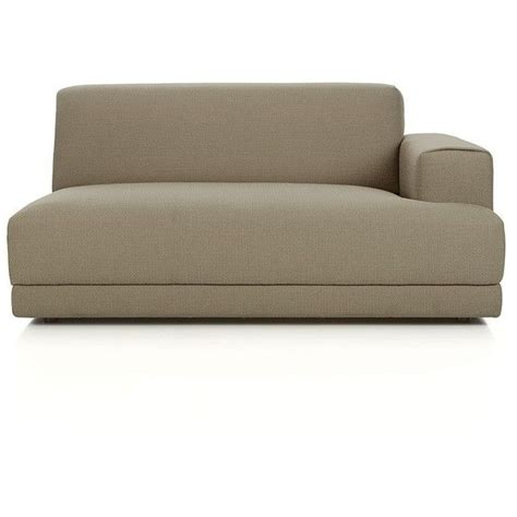crate and barrel sectional couch crate barrel annexe right arm sectional loveseat 530