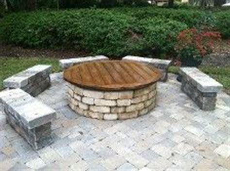 firepit top patio pavers bench search paver landscape ideas