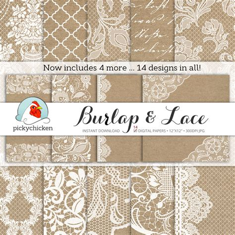 How To Make Lace Paper - burlap wedding paper burlap lace digital paper rustic